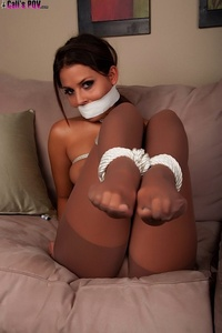Cali Logan Tied Up In Pantyhose 10