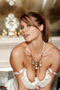 Adrienne Manning Frilly White Lingerie 00