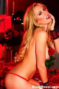 Brett Rossi Red Lingerie 01