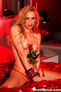 Brett Rossi Red Lingerie 13