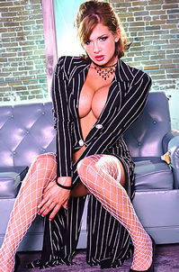 Sexy Tory Lane In Fishnet Stockings