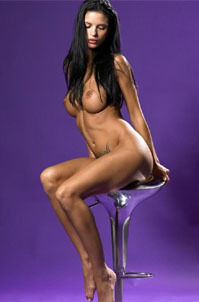 Helena Karel Sexy Nude Babe In Purple Studio