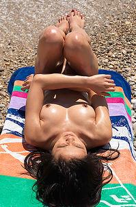 Yoko Nude On The Beach