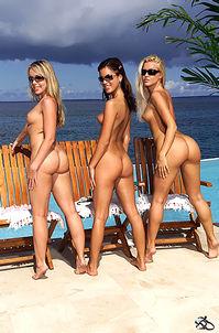 Nude Young Sluts Enjoy Tropical Sun