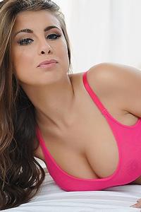 Sarah McDonald In Pink Lingerie