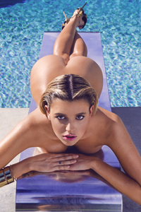 Monica Sims Gets Nude In The Pool