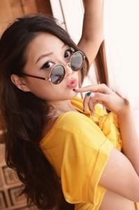 Cute Asian Girl In Yellow Dress