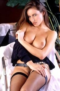 Kyla Cole In Sexy Black Stockings