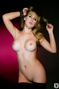 Playboy Babe Sydney Barlette In Black Lingerie 04